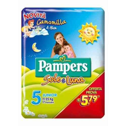 Pampers Sole&Luna Maxi Junior 5 (11-25kg) 17 Pannolini
