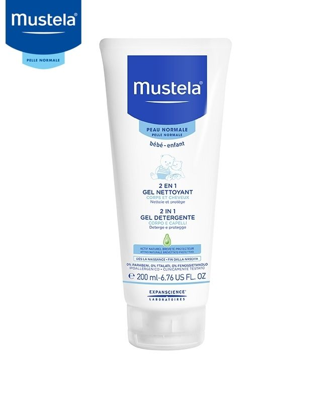 Mustela gel detergente 2 in 1 200 ml